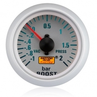 52mm Silver Face Turbo Boost Gauge (BAR)
