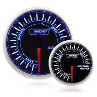 52mm Smoked Super Blue/White Air/Fuel Ratio Gauge