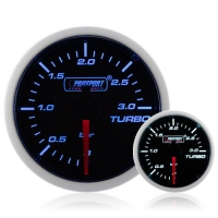 Diesel 52mm Smoked Super Blue/White Turbo Boost Gauge 0-3 Bar