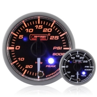 52mm Clear Lens Stepper Motor (Peak) Turbo Boost Gauge (PSI)
