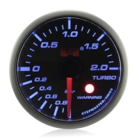 52mm Stepper Motor Super Blue (Warning) Boost Gauge (BAR)