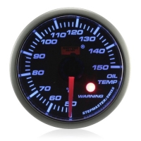 52mm Stepper Motor Super Blue (Warning) Oil Temperature Gauge