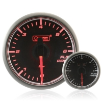 45mm Stepper Motor Clear/Amber Fuel Pressure Gauge (BAR)
