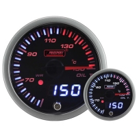 52mm JDM Dual Stepper Motor Warning Oil Temp Gauge °C