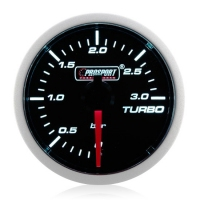 Diesel 52mm Smoked Super White Turbo Boost Gauge 0-3 Bar