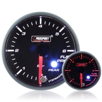 52mm Smoked Stepper Motor (Peak) Fuel Pressure Gauge (BAR)