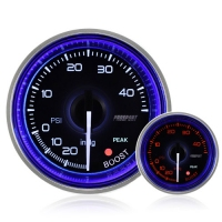 52mm Crystal Blue Peak/Warning Turbo Boost Gauge (PSI)