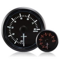 52mm Waterproof Amber/White Rev Counter (0-8000 Rpm)