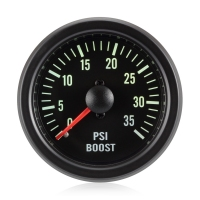 Diesel 52mm Traditional Green Boost Gauge Bar 0-35 Psi