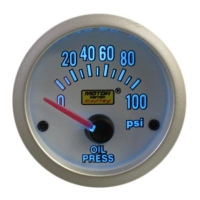 52mm Super Blue Oil Pressure Gauge (PSI) With Sender