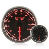 45mm Stepper Motor Clear/Amber Oil Pressure Gauge (BAR)