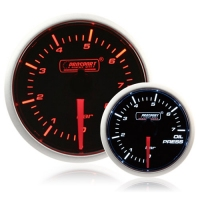 52mm Smoked Super Amber/White Oil Pressure Gauge (BAR)