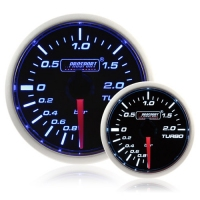 Electrical 52mm Smoked Super Blue/White Turbo Boost Gauge (BAR)