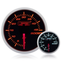 Diesel 52mm Smoked Super Amber/White Turbo Boost Gauge 0-45 Psi