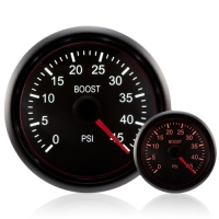 DIESEL 52mm Deluxe Traditional Amber/White Boost Gauge 0-45 Psi