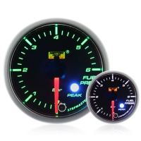 52mm Green Stepper Motor (Peak) Fuel Pressure Gauge (BAR)