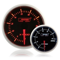 52mm Smoked Super Amber/White Rev Counter (0-10,000 rpm)