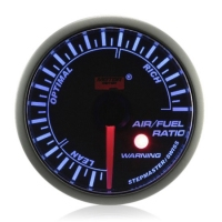 52mm Stepper Motor Super Blue (Warning) Air/Fuel Ratio Gauge