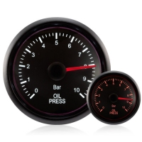 52mm Deluxe Traditional Amber/White Oil Pressure Gauge (BAR)