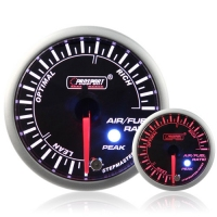 52mm Smoked Stepper Motor (Peak) Air/Fuel Ratio Gauge