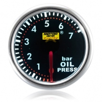 52mm Smoked Super White Oil Pressure Gauge (BAR)