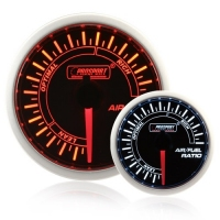 52mm Smoked Super Amber/White Air/Fuel Ratio Gauge