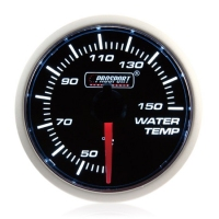 52mm Prosport Smoked Super White Water Temperature Gauge (°C)