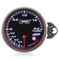 52mm Smoked Stepper Motor Touch Turbo Boost Gauge (BAR)