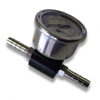 Motorsport Fuel Pressure Adaptor With Gauge - Black