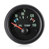 52mm Traditional Green Oil Temperature Gauge (°C)