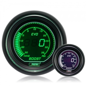 52mm Evo LCD Green / White Boost Gauge (Psi)