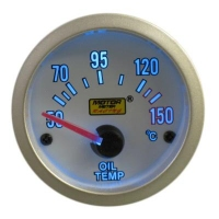52mm Super Blue Oil Temp Gauge (