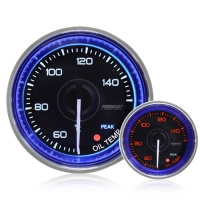 52mm Crystal Blue Peak/Warning Oil Temperature Gauge °C
