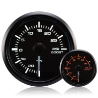 52mm Waterproof Amber/White Turbo Boost Gauge (PSI)