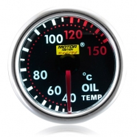 52mm Smoked Super White Oil Temperature Gauge (°C)