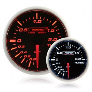 52mm Smoked Super Amber/White Turbo Boost Gauge (BAR)