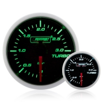 Diesel 52mm Smoked Super Green/White Turbo Boost Gauge 0-3 Bar