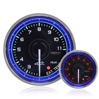 52mm Crystal Blue Peak/Warning Exhaust Temperature Gauge °C