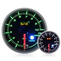 52mm Green Stepper Motor (Peak) Oil Pressure Gauge (BAR)