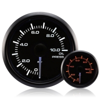 52mm Waterproof Amber/White Oil Pressure Gauge (BAR)