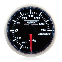 Mechanical 52mm Smoked Super White Turbo Boost Gauge (PSI)