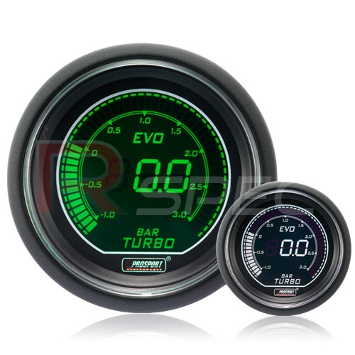 Prosport 52mm Super Smoked Green White AFR Air Fuel Ratio narrow band gauge