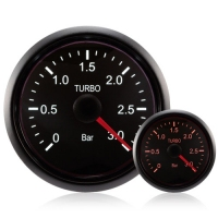 DIESEL 52mm Deluxe Traditional Amber/White Boost Gauge 0-3 Bar