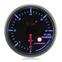 52mm Stepper Motor Super Blue (Warning) Fuel Pressure Gauge