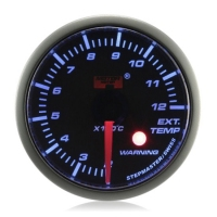 52mm Stepper Motor Super Blue (Warning) Exhaust Gas Temp Gauge