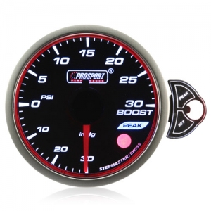 52mm Smoked Stepper Motor Touch Turbo Boost Gauge (PSI)