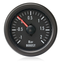 52mm Clear Lens / Black Face Turbo Boost Gauge (Bar)