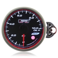 52mm Smoked Stepper Motor Touch Oil Pressure Gauge (BAR)