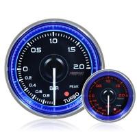 52mm Crystal Blue Peak/Warning Turbo Boost Gauge (BAR)