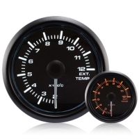 52mm Waterproof Amber/White Exhaust Temperature Gauge °C